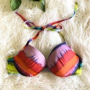 Victorias Secret Tie Dye Halter Bikini Top 34B